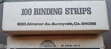 "OEM 41010 Black 1"" x 11"" Velobind Hot Knife Binding Strips  100 ct"