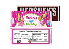 Cute Shopkins Birthday Party Favors Candy Bar Wrappers Print your Own