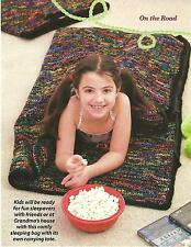*Sleeping Bag with Tote & Teddy Bear crochet PATTERN INSTRUCTIONS