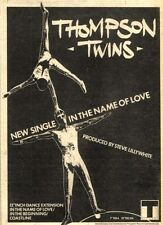 "23/1/82Pgn16 Advert: Thompson Twins Single 'in The Name Of Love' 7""x5"""