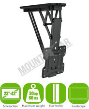 "LCD LED TV SOFFITTO TETTO remoto controllato FLIP DOWN Mount 19 "" - 42"" VESA FORI"