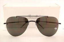 New Silhouette Sunglasses SUN ADVENTURER 8142 6200 Black/Grey Polarized For Men