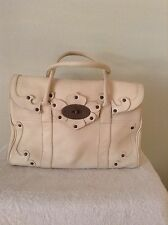 Mulberry Tooled Bayswater Ivory Glove Leather Pre Owned