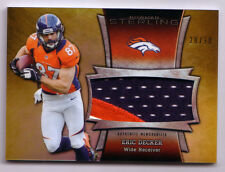 2013 Bowman Sterling Eric Decker REFRACTOR Jumbo 3 Color Patch SERIAL #28/30