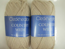 CLECKHEATON COUNTRY WIDE 10 BALLS BONE,PURE WOOL,50GRS,NO 16,NEW COLOUR