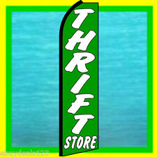 THRIFT STORE SWOOPER FLAG Feather Banner Flutter Bow Advertising Sign