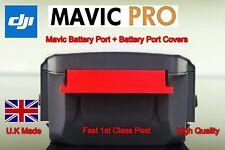 Dji Mavic Pro Battery Port Cover x4 + Mavic Battery Port Cover In Red