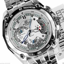 Imported Casio Edifice EF-550 7av Luxury White Chronograph Mens Watch