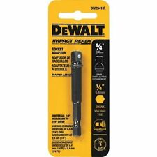 "(6 PACK) DEWALT IMPACT READY SOCKET ADAPTER - 1/4"" HEX TO 3/8"" SOCKET TOOLS"