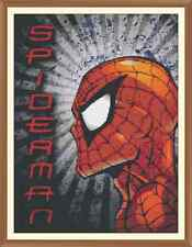 Spiderman 100 cross stitch chart solo 12.0 x 9.2 pollici