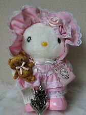 "2005 Sanrio Japan POUR LOLITA WHITE EDITION Hello Kitty Doll Plush 9"" NECKLACE"
