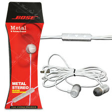 Bose Metal Stereo IN-EAR Headphone Earphone QC-65 with Mic & Volume Control