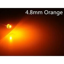 10 Stk.a0308 Orange 4,8mm LEDs  Superhelle 2Lm 4.8mm StrawHat LEDs