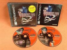 Resident Evil 2 Black Label Playstation PS1 1 PSONE Fast FREE SHIP Complete!