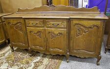 VINTAGE FRENCH LOUIS XV STYLE CARVED OAK 4 DOOR/2 DRAWER SIDEBOARD (001305)