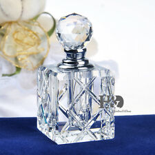 Clear Crystal Refillable Cylinder Perfume Bottle Stopper Empty Wedding Gift 5ml