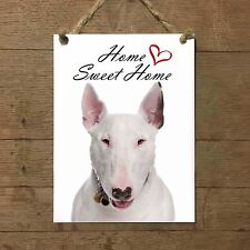 BULL TERRIER Home Sweet home mod1 Targa CANE piastrella ceramic tile dog