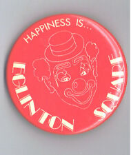 "1980s Eglinton Square Toronto Mall 2.25"" Advertising Pinback Button Canada Clown"