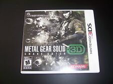 Replacement Case (NO GAME) METAL GEAR SOLID SNAKE EATER Nintendo 3DS Original