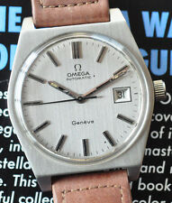 Vintage 1972 Omega Geneve Cal 1481 Automatic Stainless All Gray Watch Runs Great