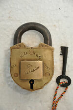 Old Brass Solid Heavy Handcrafted Push Button Mira Brand Tricky Padlock