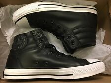 NEW CONVERSE CT FRESH HI HIGH LEATHER BLACK SNEAKER 150819C SIZE MEN 7 WOME