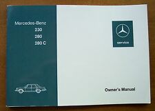 1976 Mercedes 230/280/280E Owners Manual-W114-1973-1976 NOS Discontinued