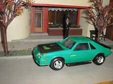 1/24 Custom 1980's Ford Mustang Cobra Fox Body TOY ? Green for parts or restore