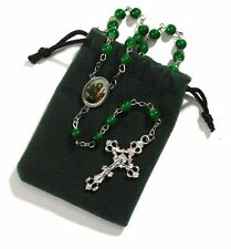 St. Jude Rosary with Green Felt Case (VS249)