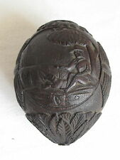 ANTIQUE CARVED COCONUT c.1900 Exceptional