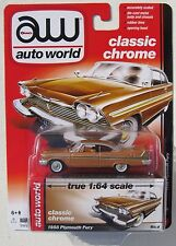 AUTO WORLD 1958 PLYMOUTH FURY #6 1:64 CLASSIC CHROME RELEASE 5 A
