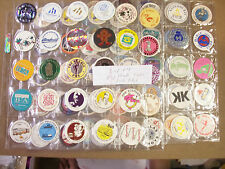 POGS/MILKCAPS MISC. TYPES LOT # 4 SHEETED (100) TOTAL MOSTLY ALL DIFFERENT