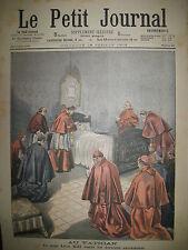 VATICAN PAPE LEON XIII DERNIERS SACREMENTS LE PETIT JOURNAL 1903