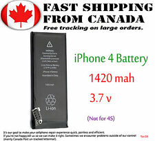 For Apple iPhone 4G Internal Battery 1420mAh 3.7V Li-ion Replacement Black New