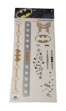 DC Comics Batman Temporary Tattoos Jewelry Costume Pack New Licensed