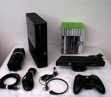 Microsoft Xbox 360 S with Kinect 250 GB Black Console (PAL) + 11 Top Games