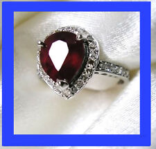 ♛ EXCEPTIONNELE BAGUE ALLIANCE 2790E OR BLANC RUBIS 2,80 CARAT DIAMANT 750 18K ♛