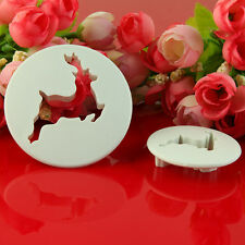 2pcs Deer Xmas Cutter Fondant Sugar Icing Party Cake Decorating Topper Mold Tool