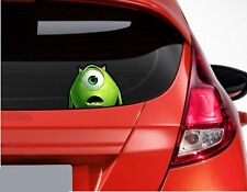 x1 Peeping Monsters Inc Mike Wazowski Funny Car or Van Window Sticker