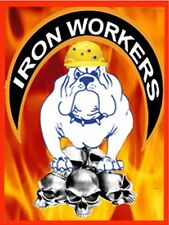 hard hat stickers, IRON WORKER CIW-2