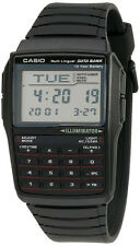 Casio Men's 25-Page Databank 8-Digit Calculator Black Resin Watch DBC32-1A