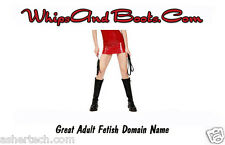 WhipsAndBoots.Com Domain Name for Sale - Great D&s Fetish Domain Name