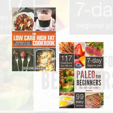 Diet Book Collection (The Low Carb High Fat,Paleo Diet) 2 Books Set New