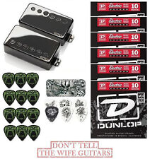 EMG JH SET JAMES HETFIELD BLACK CHROME ( 42 HETFIELD PICKS, TIN & 6 STRING SETS)