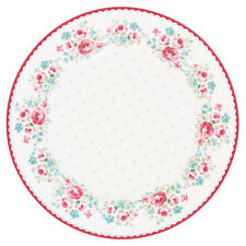 GreenGate Floral Side Plate in Tess White