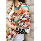 1Pc Chiffon Cartoon Image Printing Pattern Scarves Shoulder Shawls For Women