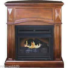 20,000-BTU KozyWorld The Belmont Vent-Free Gas Fireplace in Vintage Cherry