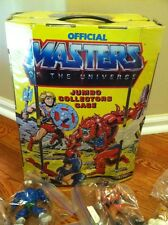 "Huge Lot of He-Man Action Figures ""22"" MOTU TONS OF WEAPONS! AND Case!"