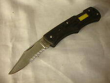 Collectible Stainless IMPERIAL Fixed Blade Knife Made In Ireland Black Handle