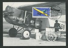 GERMANY MK 1991 AVIATION FOKKER MAXIMUMKARTE CARTE MAXIMUM CARD MC CM m91/4